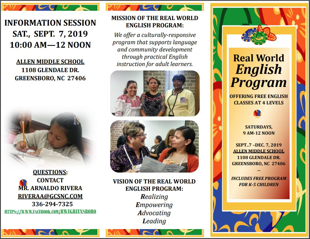 REELL Flier with information