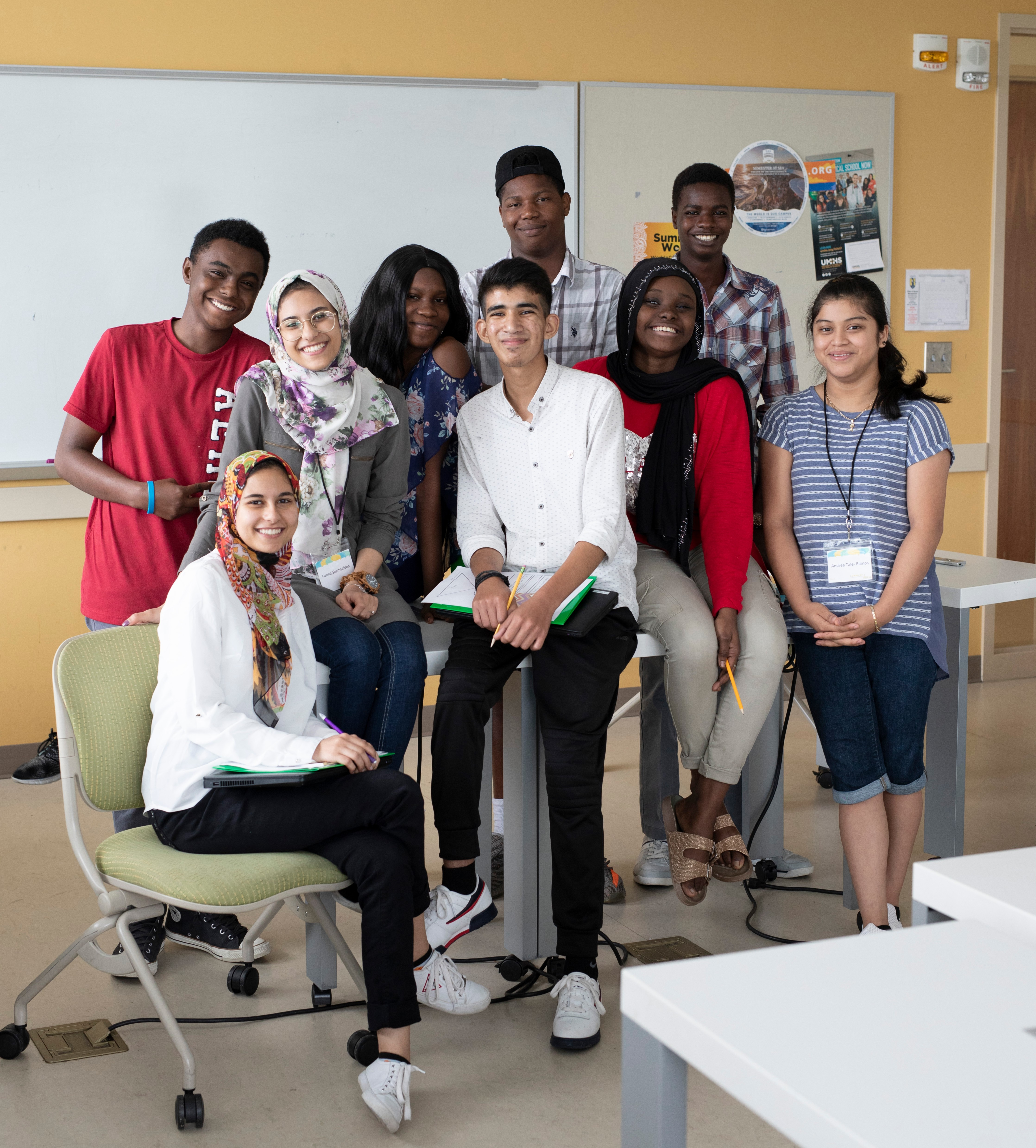 Group of people in a classroom