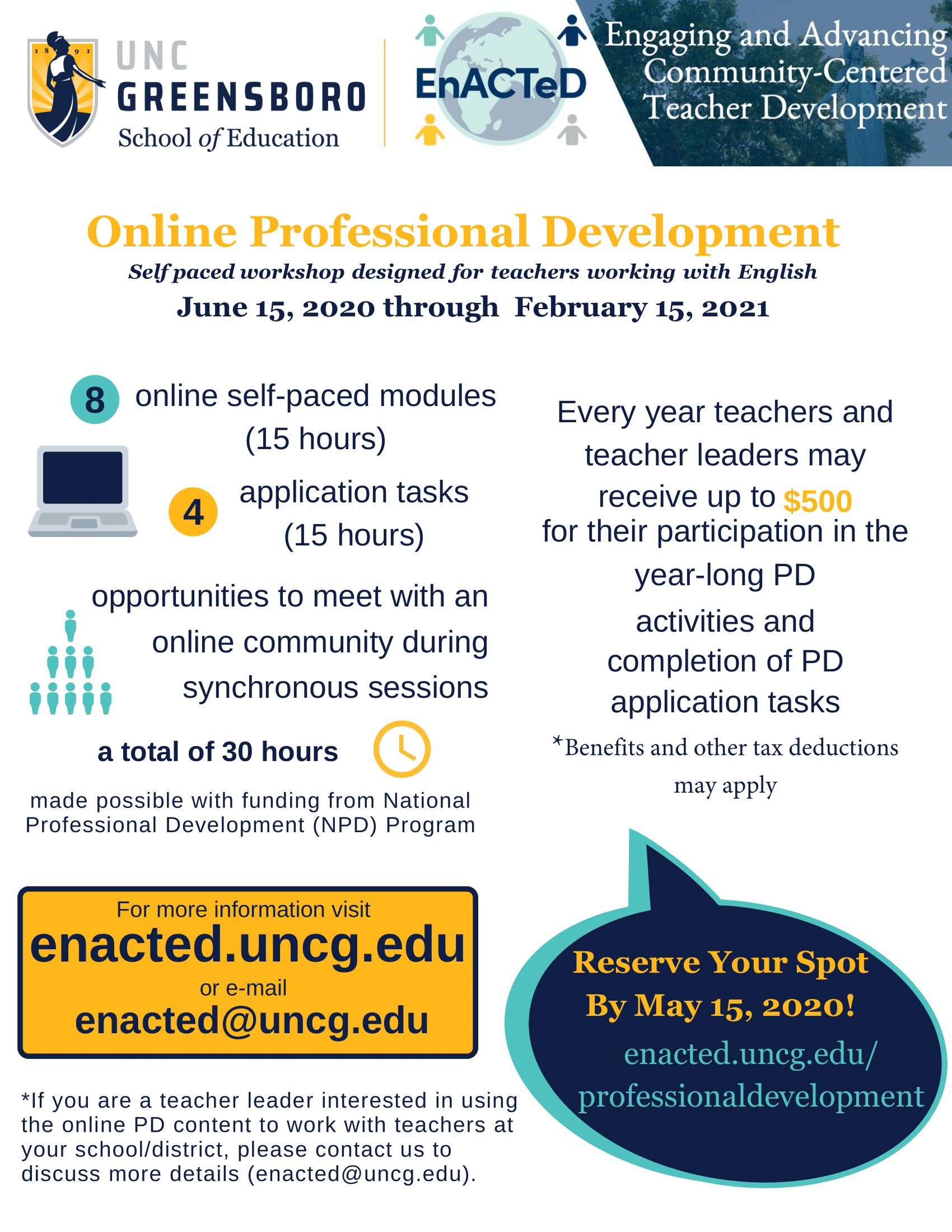 Flier for Professional Development