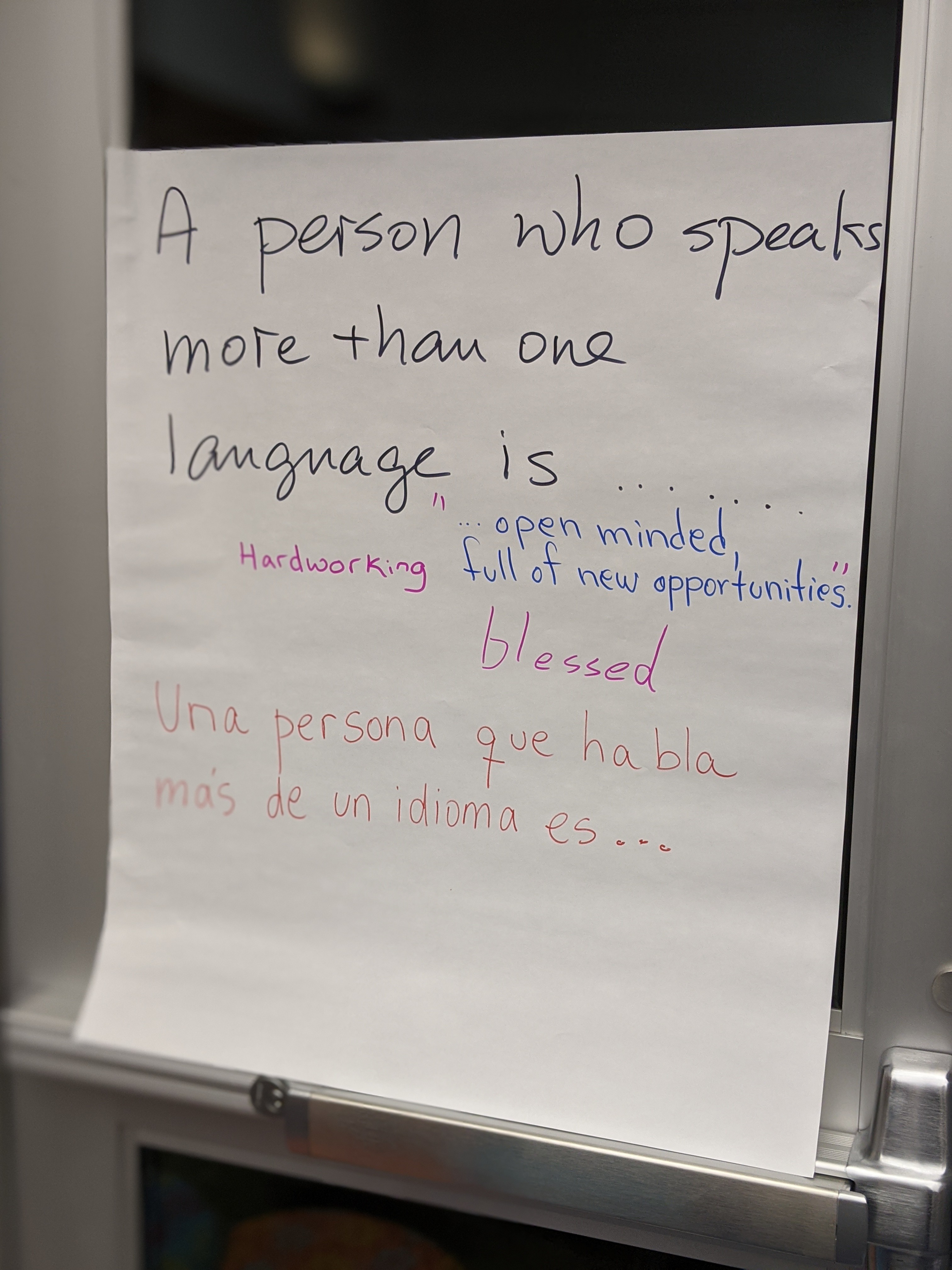 A Person Who Speaks More Than One Language is....