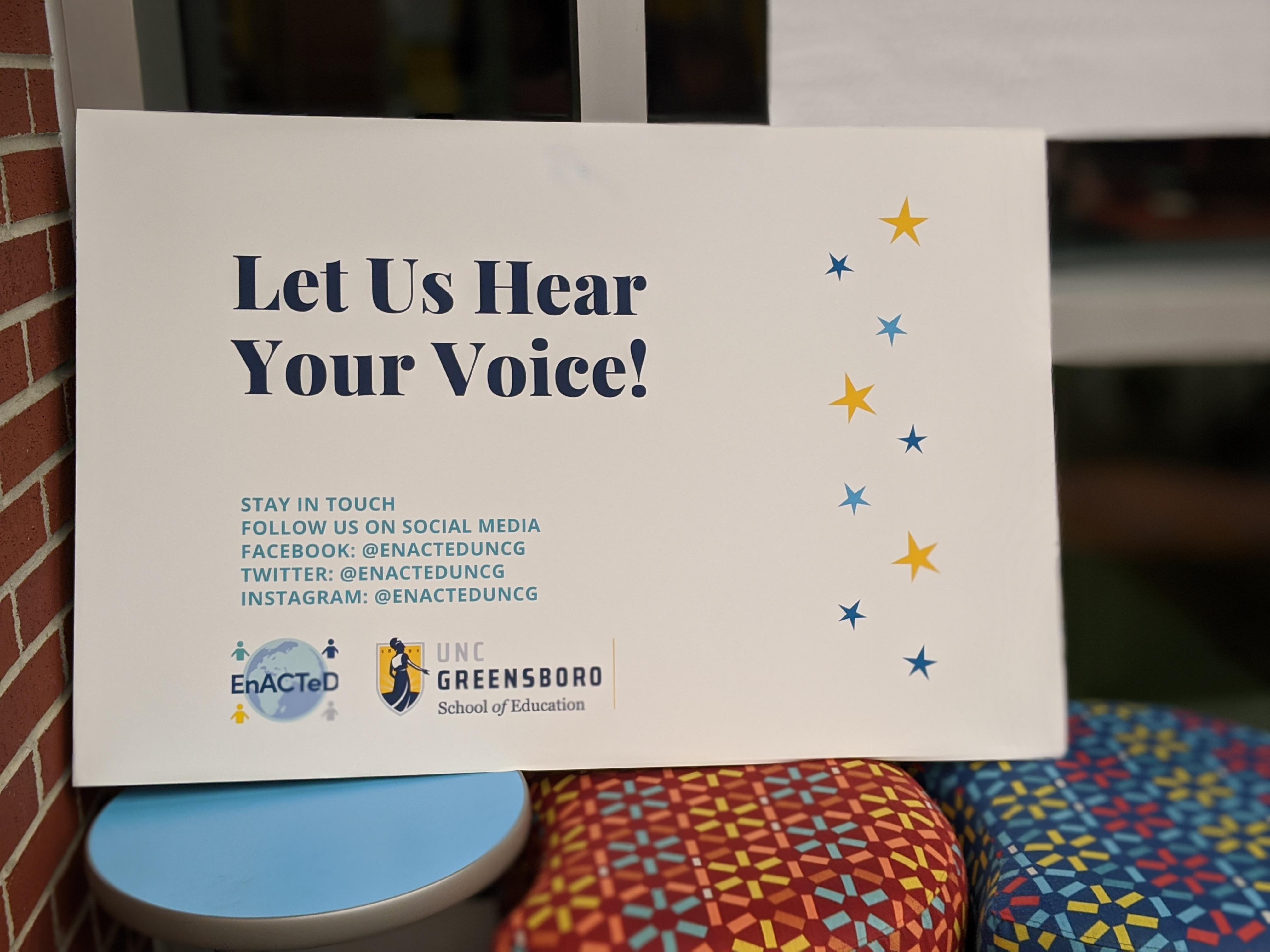 Let Us Hear Your Voice!